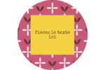 Fleurs roses géométriques Étiquettes rondes - gabarit prédéfini. <br/>Utilisez notre logiciel Avery Design & Print Online pour personnaliser facilement la conception.