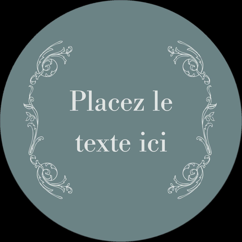 """3"""" Diameter Étiquettes rondes - Cachet français"""