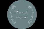 Cachet français Étiquettes rondes - gabarit prédéfini. <br/>Utilisez notre logiciel Avery Design & Print Online pour personnaliser facilement la conception.