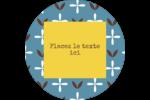 Bain bleu Étiquettes rondes - gabarit prédéfini. <br/>Utilisez notre logiciel Avery Design & Print Online pour personnaliser facilement la conception.