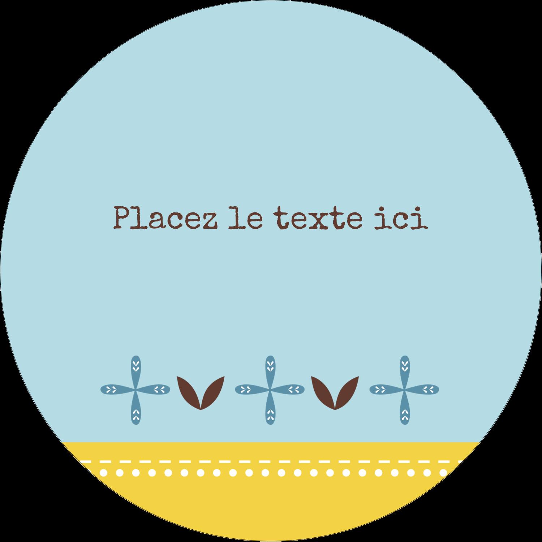 """3"""" Diameter Étiquettes rondes - Bain bleu"""