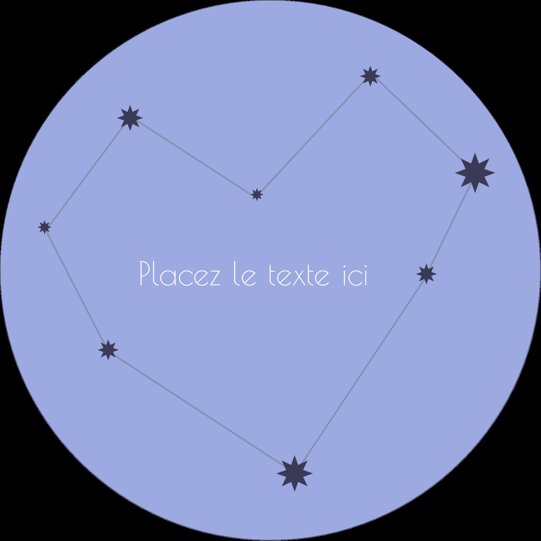 """3"""" Diameter Étiquettes rondes - Étoiles d'anniversaire"""