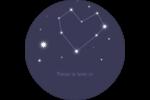 Étoiles d'anniversaire Étiquettes rondes - gabarit prédéfini. <br/>Utilisez notre logiciel Avery Design & Print Online pour personnaliser facilement la conception.