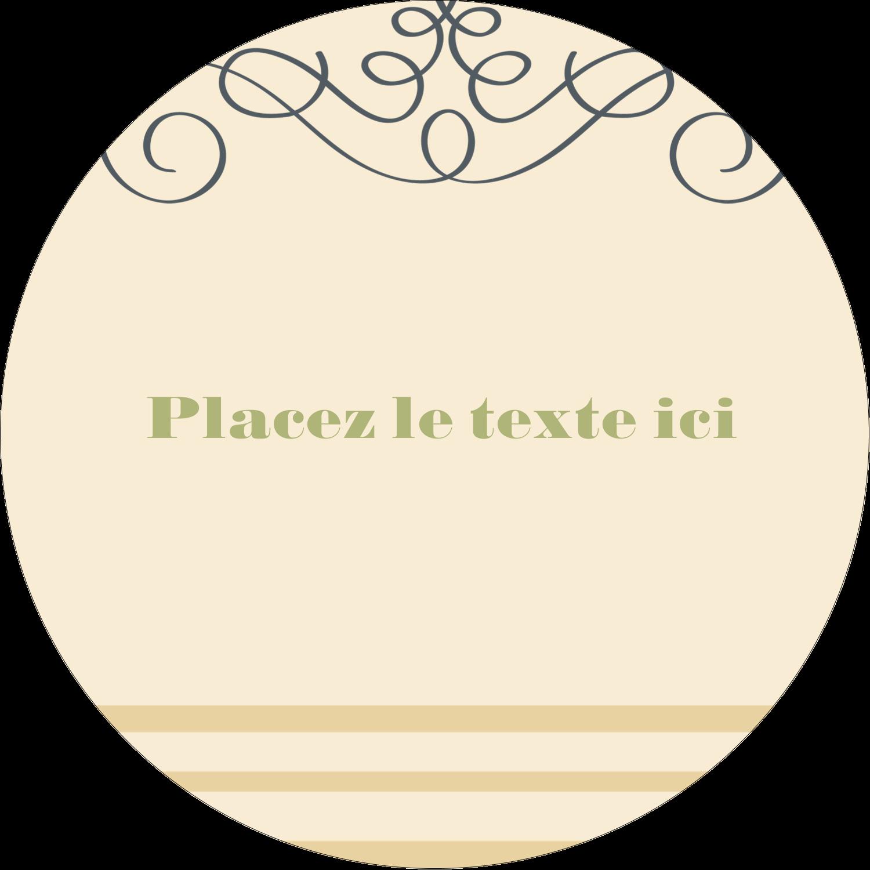 """3"""" Diameter Étiquettes rondes - Souhaits d'anniversaire"""