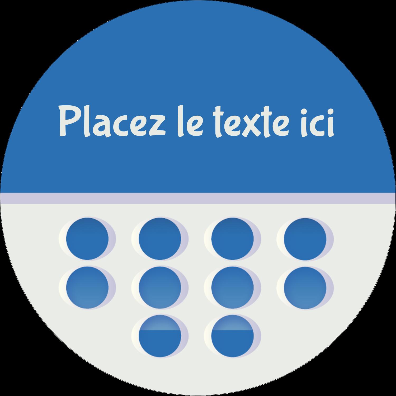"""3"""" Diameter Étiquettes rondes - 4e étage"""
