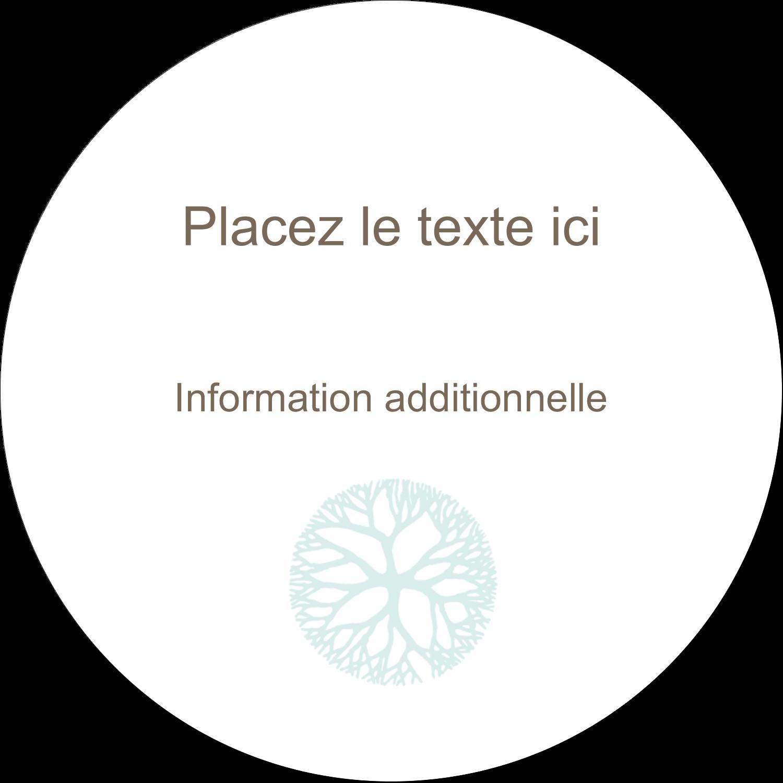 """3"""" Diameter Étiquettes rondes - Fleur créative"""
