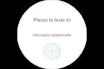 Fleur créative Étiquettes rondes - gabarit prédéfini. <br/>Utilisez notre logiciel Avery Design & Print Online pour personnaliser facilement la conception.