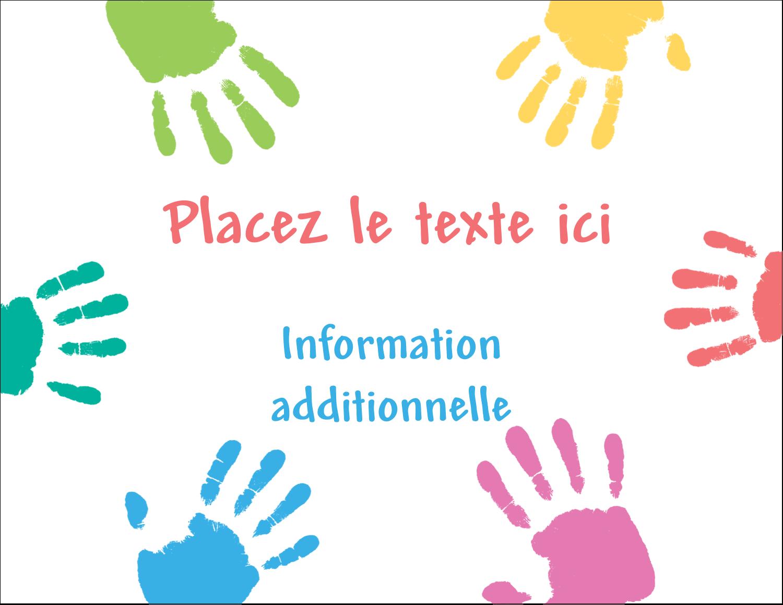 """4¼"""" X 5½"""" Carte Postale - Mains enfantines"""