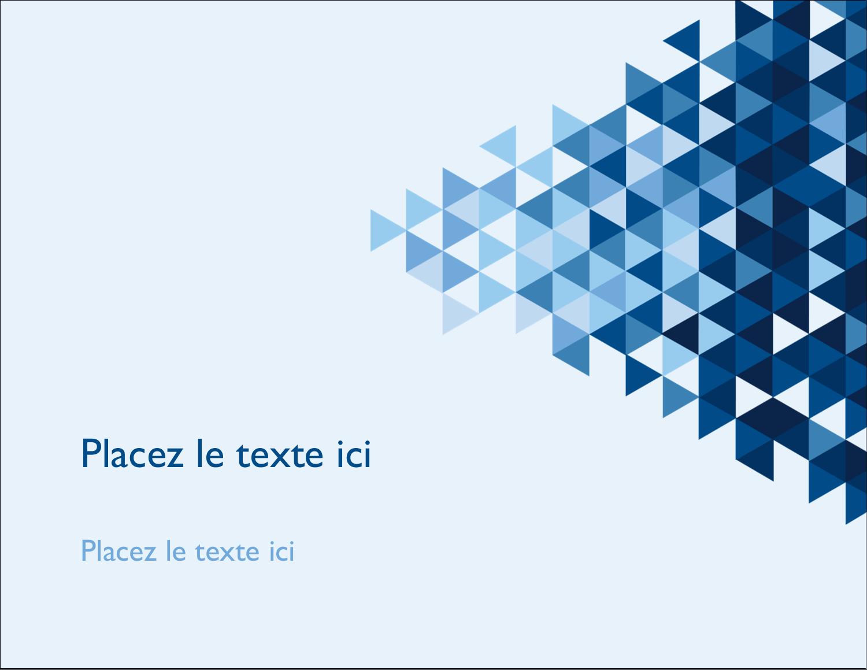 "4¼"" X 5½"" Carte Postale - Angles bleus"