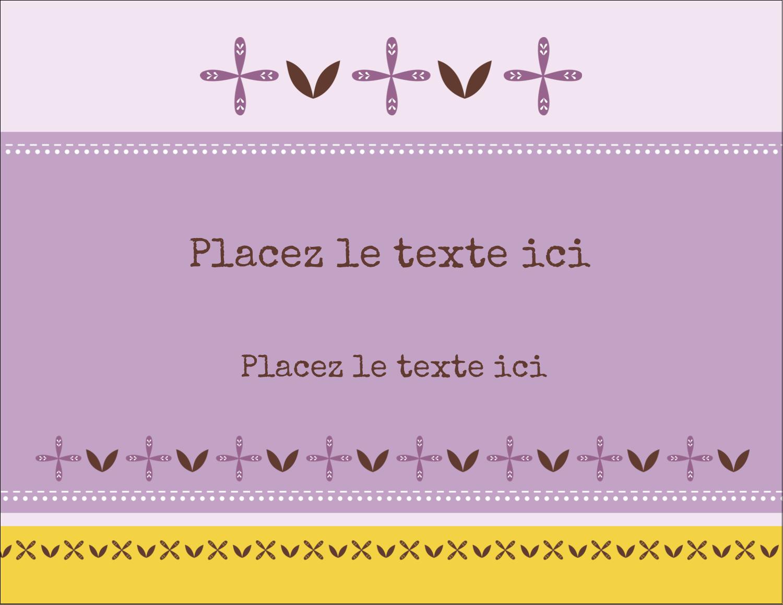 """4¼"""" X 5½"""" Carte Postale - Lavande géométrique"""