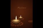 Lumières Divali Carte Postale - gabarit prédéfini. <br/>Utilisez notre logiciel Avery Design & Print Online pour personnaliser facilement la conception.