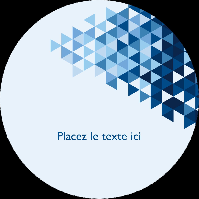 """3"""" Diameter Étiquettes rondes - Angles bleus"""