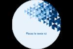 Angles bleus  Étiquettes rondes - gabarit prédéfini. <br/>Utilisez notre logiciel Avery Design & Print Online pour personnaliser facilement la conception.