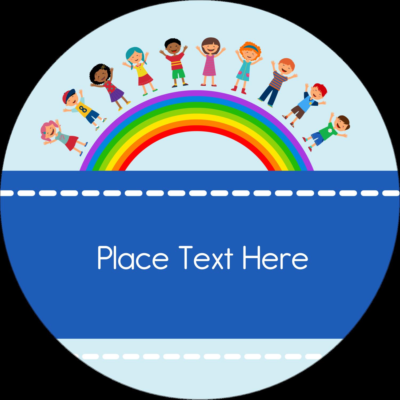 "3"" Round Label - Childcare Education"