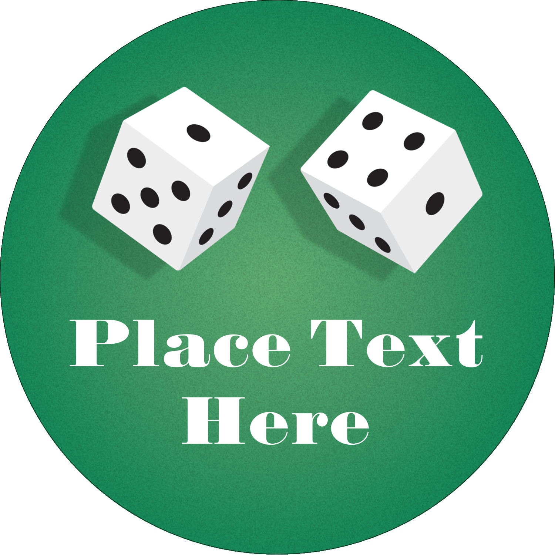"3"" Round Label - Poker Game"