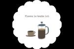 L'heure du café Étiquettes festonnées - gabarit prédéfini. <br/>Utilisez notre logiciel Avery Design & Print Online pour personnaliser facilement la conception.