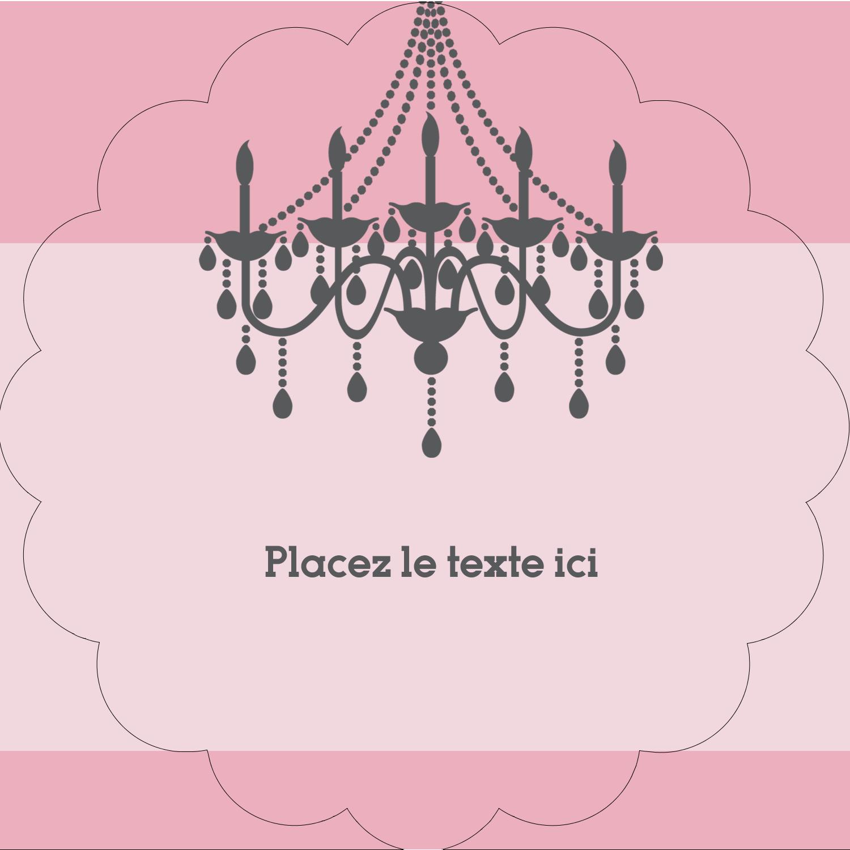 """2"""" Diameter Étiquettes festonnées - Chandelier"""