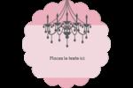 Chandelier Étiquettes festonnées - gabarit prédéfini. <br/>Utilisez notre logiciel Avery Design & Print Online pour personnaliser facilement la conception.