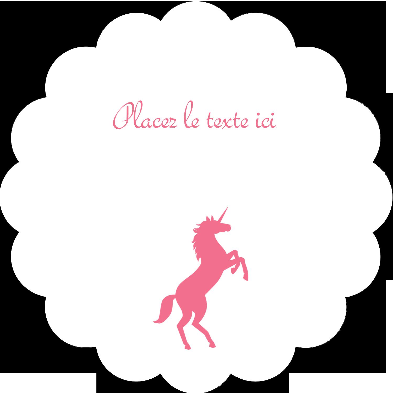"""2"""" Diameter Étiquettes festonnées - Château"""