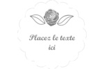 Bouquet de fleurs Étiquettes festonnées - gabarit prédéfini. <br/>Utilisez notre logiciel Avery Design & Print Online pour personnaliser facilement la conception.
