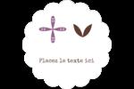 Lavande géométrique Étiquettes festonnées - gabarit prédéfini. <br/>Utilisez notre logiciel Avery Design & Print Online pour personnaliser facilement la conception.
