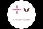 Fleurs roses géométriques Étiquettes festonnées - gabarit prédéfini. <br/>Utilisez notre logiciel Avery Design & Print Online pour personnaliser facilement la conception.
