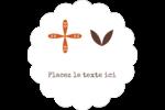 Fleurs orange géométriques Étiquettes festonnées - gabarit prédéfini. <br/>Utilisez notre logiciel Avery Design & Print Online pour personnaliser facilement la conception.