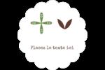 Fleurs vertes géométriques Étiquettes festonnées - gabarit prédéfini. <br/>Utilisez notre logiciel Avery Design & Print Online pour personnaliser facilement la conception.