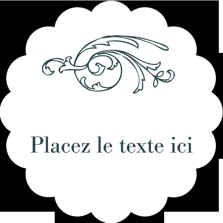 "2"" Scallop Oval Label - Bath French"
