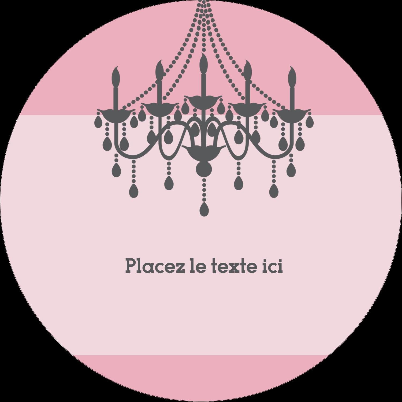 """3"""" Diameter Étiquettes rondes - Chandelier"""