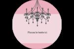Chandelier Étiquettes rondes - gabarit prédéfini. <br/>Utilisez notre logiciel Avery Design & Print Online pour personnaliser facilement la conception.