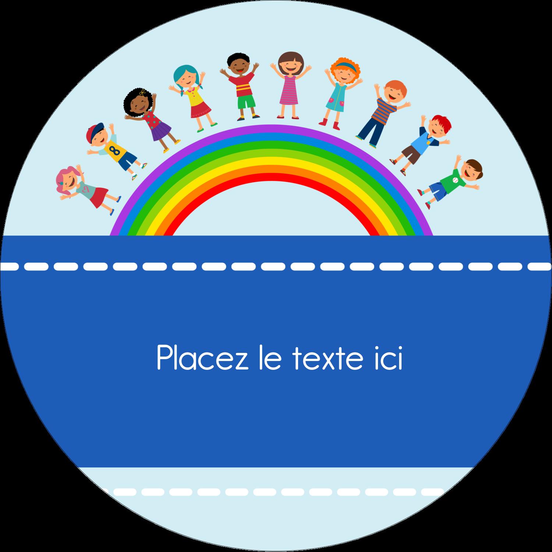 """3"""" Diameter Étiquettes rondes - Éducation des enfants"""