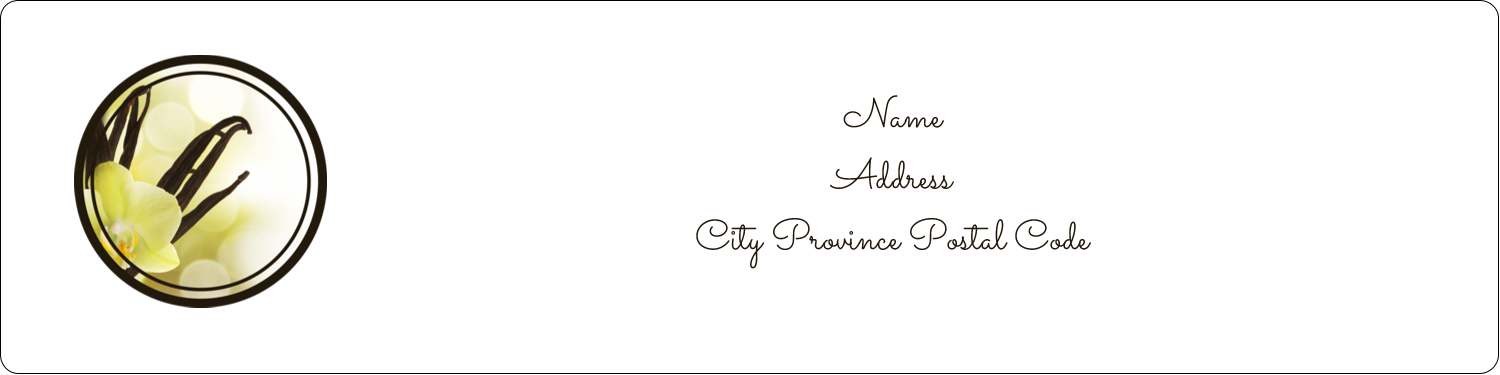 "1"" x 4"" Address Label - Vanilla Bean Flower"