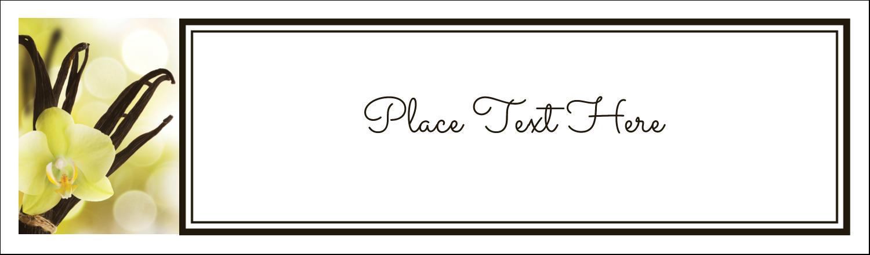 """2½"""" x 8½"""" Tent Card - Vanilla Bean Flower"""