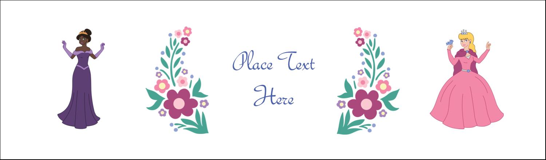 """2½"""" x 8½"""" Tent Card - Princesses"""