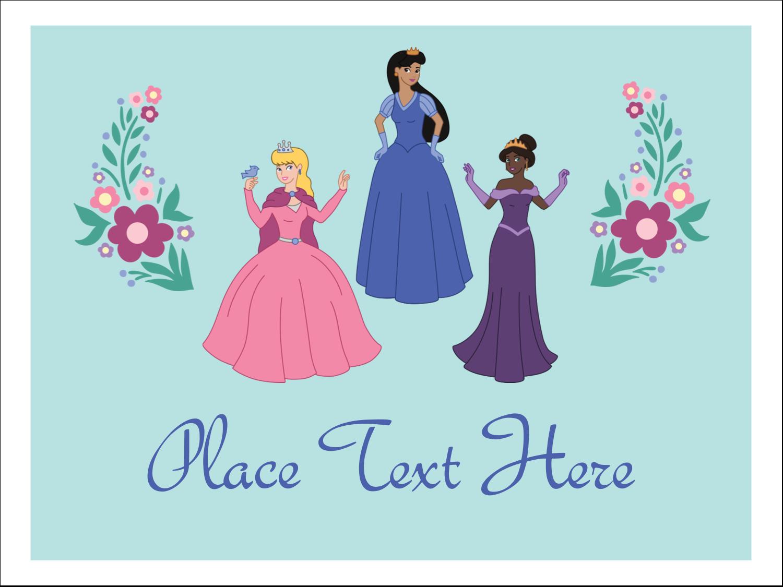 """3"""" x 4"""" Name Tags - Princesses"""