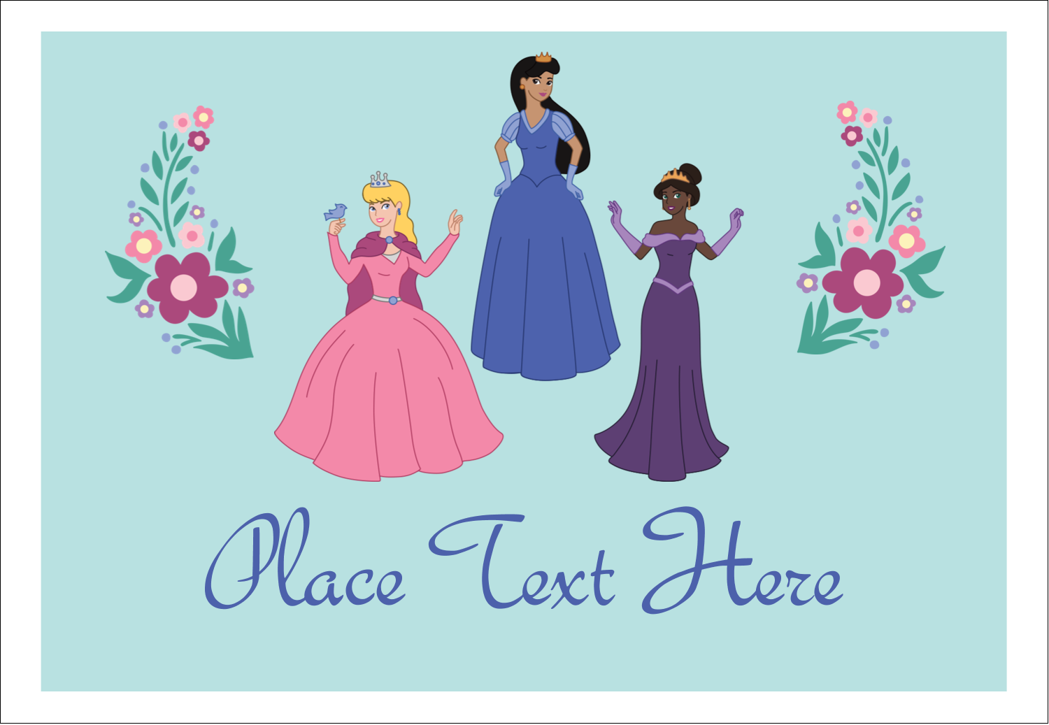 "3⅜"" x 2⅓"" Name Badge - Princesses"