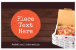 Keep them hungry for more with easily customizable pre-designed Pizza Delivery templates.
