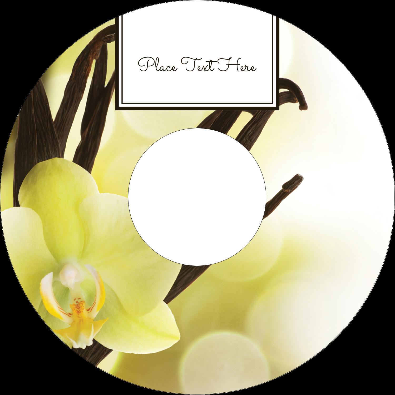 "4.65"" CD-DVD Label - Vanilla Bean Flower"