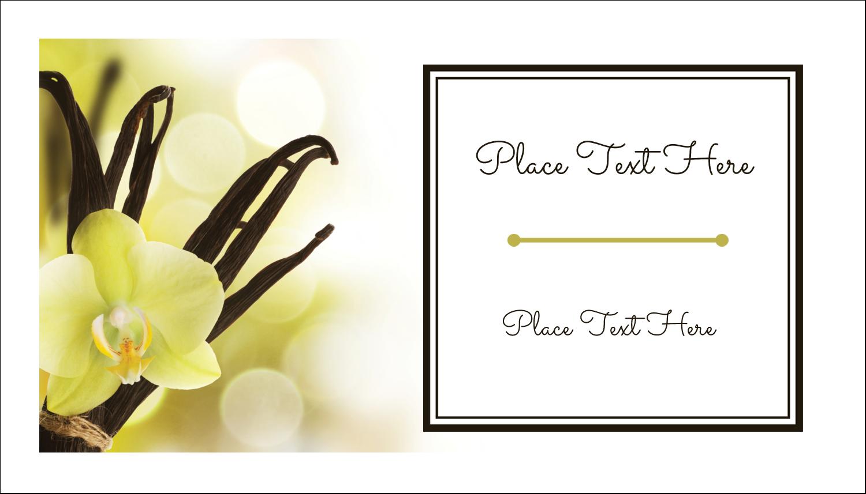 """2"""" x 3½"""" Business Card - Vanilla Bean Flower"""