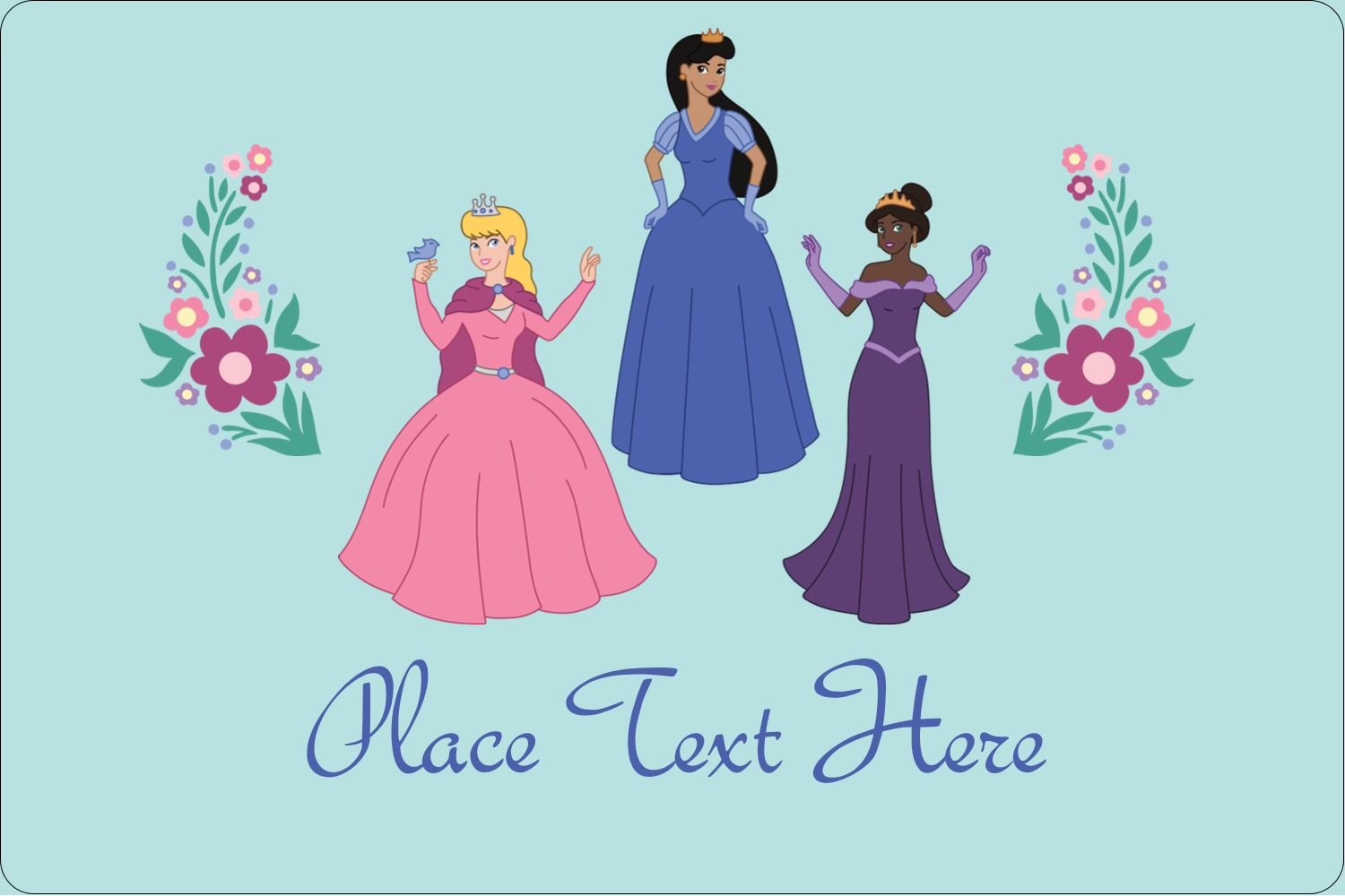 "2"" x 3"" Rectangular Label - Princesses"