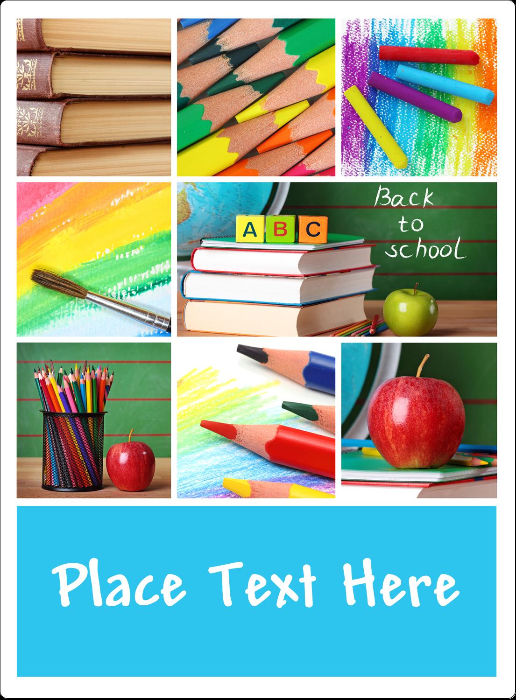 "4¾"" x 3½"" Rectangular Label - Pencil Education"