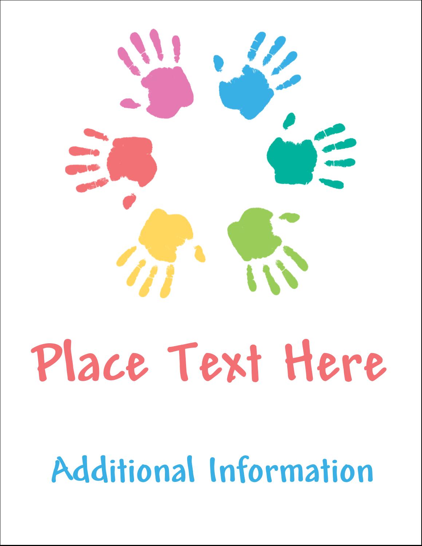 "4¼"" x 5½"" Postcard - Childcare Hands"
