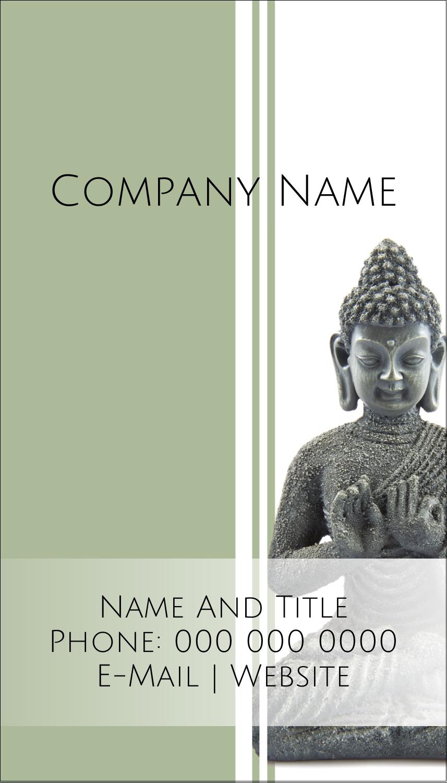 "3½"" x 2"" Business Card - Buddha"