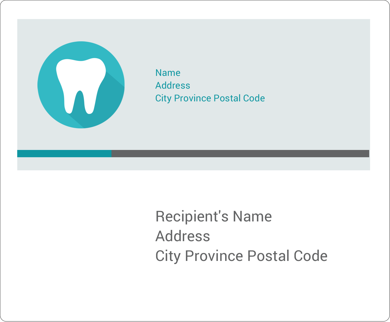 "3⅓"" x 4"" Shipping Label - Dentist Tooth"