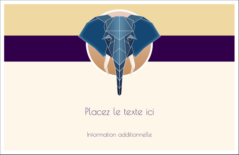 """8½"""" x 11"""" Cartes Et Articles D'Artisanat Imprimables - Éléphant géométrique"""