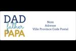 Papas du monde Étiquettes d'adresse - gabarit prédéfini. <br/>Utilisez notre logiciel Avery Design & Print Online pour personnaliser facilement la conception.