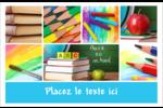 Rentrée des classes Cartes Et Articles D'Artisanat Imprimables - gabarit prédéfini. <br/>Utilisez notre logiciel Avery Design & Print Online pour personnaliser facilement la conception.