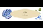 Bleu floral  Intercalaires / Onglets - gabarit prédéfini. <br/>Utilisez notre logiciel Avery Design & Print Online pour personnaliser facilement la conception.