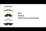 Moustache de papa Étiquettes de classement écologiques - gabarit prédéfini. <br/>Utilisez notre logiciel Avery Design & Print Online pour personnaliser facilement la conception.